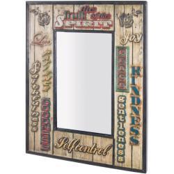 Wandspiegel 52 x 70 x 3 cm Metall vintage