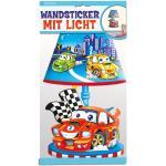 Wandsticker mit Licht Speed Cars