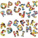 Wandtattoo Set Alphabet mit 26 Buchstaben Kinder Wandtattoos mehrfarbig Kinder