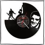 Wanduhr Aus Vinyl Schallplattenuhr Mit Elvis Presley Motiv Upcycling Design Uhr Wand-Deko Vintage-Uhr Wand-Dekoration Retro-Uhr