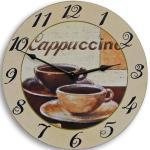 Wanduhr Cappuccino