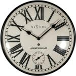 Wanduhr rund Amsterdam Dome (Schwarz/Weiß, Durchmesser: 30 cm)