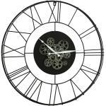 Wanduhr rund Clarion (Schwarz, Durchmesser: 70 cm)