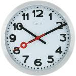Wanduhr rund Station (Weiß/Schwarz/Rot, Durchmesser: 35 cm)