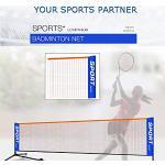wangza Volleyball Netz für Garten Mobil Tragbares Badmintonnetz Outdoor Volleyball Trainingsnetz Langlebiges Nylon für Tennis Badminton Training Sport 3m/4m/5m/6m