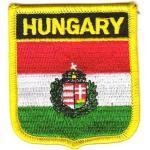 Wappen Aufnäher Patch Ungarn ohne Wappen Fahne NEU