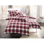 Rote Bettwaesche-mit-Stil Flanellbettwäsche