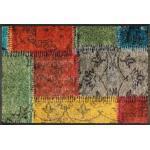 Wash+Dry Fußmatte Vintage Patches Polyamid Bunt 50 x 75 cm