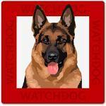 WATCH4DOGZ Deutscher Schäferhund Warnschild, Hundeschild, 22x22 cm