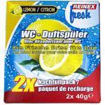 WC-Duftspüler Reinex FRESH Nachfüller 2 x 40 g Lemon die frische wochenlange Brise fürs Bad, Nachfüller