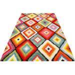 Wecon home Teppich Kelim Remix, rechteckig, 13 mm Höhe, Kurzflor, Wohnzimmer bunt Esszimmerteppiche Teppiche nach Räumen