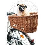 Weiden Fahrradkorb für Hunde für Gepäckträger, 55 x 35 x 48 cm - Natur