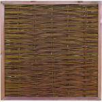 Weidenzaun Sichtschutz Zaun aus Weide Holzrahmen ca.Größe (HxB): 120 x 120 cm