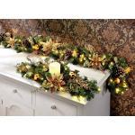 Weihnachtliche Dekorations-Accessoires Beleuchtetes Tischgesteck