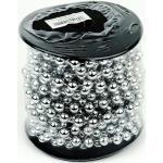 Weihnachts-Perlenkette Silberfarben - Kuststoff Ø 8 mm x 8 m