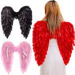 Weihnachtsschmuck schwarz weiß Engel Feder Flügel Urlaub Party Kostüm Cosplay Requisiten Szene Layout Laufsteg Dämon Teufel Flügel Show Lightinthebox