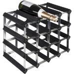 Weinregal RTA Wineracks Verzinkter Stahl 16 Flaschen 4x3 Black Ash