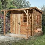 Weka Gartenhaus Nature 2 (20 mm, 6,72 m², Pultdach)