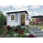 Graue Nachhaltige Skandinavische Weka Gartenhäuser & Gartenhütten aus Fichte mit Schleppdach