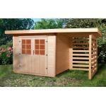 Weka Holz-Gartenhaus/Gerätehaus La Spezia B x T: 385 cm x 239 cm davon 150 cm Anbaudach