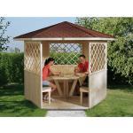 Weka Holz Gerätehaus,-Pavillon Mainau Natur unbehandelt 223 cm x 257 cm