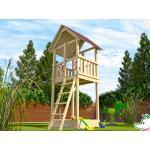 WEKA Kinderspielturm TABALUGA mit Satteldach, natur
