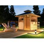 weka Pavillon »Gartenoase«, (Set), BxT: 294x294 cm, inkl. Brüstung, beige