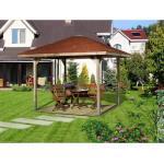 weka Pavillon »Paradies 1«, (Set), BxT: 294x294 cm, inkl. Dachschindeln und Pfostenanker, braun