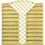 Wellker Sichtschutzzaun Holz Krone V-Gitter