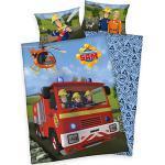 Wendebettwäsche Feuerwehrmann Sam, Renforcé, 100 x 135 + 40 x 60 cm