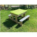 WENDI TOYS Sand und Wassertisch mit 2 Bänken 100x80x50