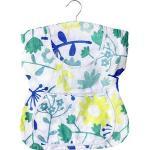Wenko Wäscheklammerbeutel Kleid 3714010100, für 150 Klammern, Blumenmuster, mit Aufhänger