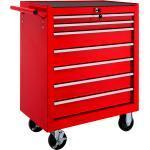Werkzeugwagen mit 7 Schubladen - rot