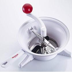 Westmark Passiermaschine, ø 23 cm, hochwertiger Kunststoff/Rostfreier Edelstahl, Weiß/Rot, 11962260