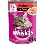 Whiskas Adult mit Rindfleisch in Katzensauce 24x400g (Rabatt für Stammkunden 3%)