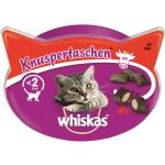 Whiskas Knuspertaschen Rind | 8 x 60g Katzensnack