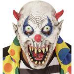 Widmann 00393 - Maske Teufelsclown für Kinder, Accessoire, Halloween, Karneval