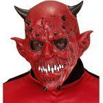 Widmann 00842 Teufelsmaske, rot, Einheitsgröße