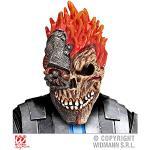 Widmann 05403 Cyber Totenkopf Maske, Mehrfarbig, Taglia unica