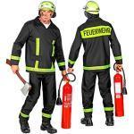 WIDMANN 11010031 Kostüm Feuerwehrmann, Schwarz, L