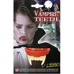 Widmann 4089B - Vampirgebiss, für Kinder, Zähne, Beißzähne, Dracula, Blutsauger, Mottoparty, Karneval, Halloween