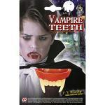 Widmann AC0268 4089B - Vampirgebiss, für Kinder, Zähne, Beißzähne, Dracula, Blutsauger, Mottoparty, Karneval, Halloween
