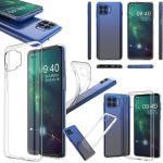 Wigento Handyhülle »Für Motorola Moto G 5G Plus Silikoncase TPU Schutz Transparent Tasche Hülle Cover Etui Zubehör Neu«