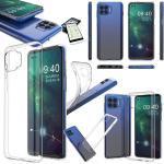 Wigento Handyhülle »Für Motorola Moto G 5G Plus Silikoncase TPU Transparent + 0,26 H9 Glas Tasche Hülle Schutz Cover«