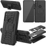 Wigento Smartphone-Hülle »Für Motorola Moto G8 Power Hybrid Case 2teilig Outdoor Schwarz Tasche Hülle Cover Schutz«