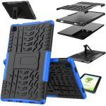 Wigento Tablet-Hülle »Für Samsung Galaxy Tab A7 T500 / T505 2020 Hybrid Outdoor Schutzhülle Blau Tasche + 0.3 H9 Schutzglas«