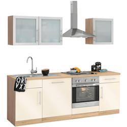 wiho Küchen Küchenzeile Aachen, ohne E-Geräte, Breite 220 cm gelb Küchenzeilen Geräte -blöcke Küchenmöbel