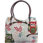 Wilai Eule Eulen Tasche Handtasche Henkeltasche MIT EULENMOTIV UND VERSPIELTEN ACCESSOIRES Shopper Schultertasche Eulenmotiv Umhängetasche - VINTAGE LOOK - absolut cool und stylish