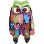 Wilai Eulentasche Kindertasche Beutel Umhängetasche mit Klettverschluss Kinder Eule EULE MIT VERSPIELTEN ACCESSOIRES - FARBENFROH- Ideal für Kindergarten - supersüß und stylisch-