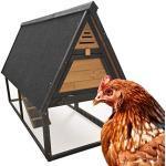 Wiltec Hühnerstall Hühnerkäfig Freilauf Hühner Geflügelhaltung Käfig Nistkasten Sitzstange